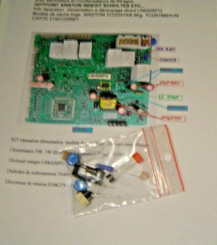 Kit Universel Réparation Carte LNK626PG  ARCADIA DRYER ARISTON INDESIT SCHOLTES