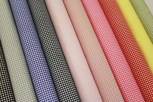 Poplin-Gingham-Print-Small-Check-100-Cotton-10-Colours-High-Quality-44-034