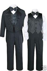 Baby Toddler Kid Teen 1st Communion Wedding Formal White Tuxedo Boy Suit sz S-20