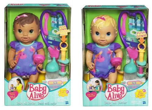 Il BABY ALIVE BABY tutti meglio controllare BAMBOLE MODERNE IN BIONDA marróne Coloree Capelli