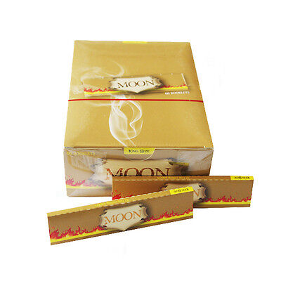 Moon Unbleached Cigarette Rolling Papers King Size Slim 108*45mm 1920 leaves Top