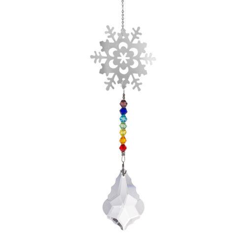 Crystal Suncatcher Butterfly Pendant Fengshui Pendulum Hanging Prisms Window