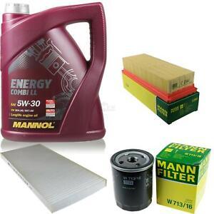 Motor-Ol-5L-MANNOL-5W-30-Combi-LL-MANN-FILTER-Filterpaket-Fiat-Punto-176-55-1-1