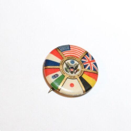 ВWWI Allies Flag Pinback