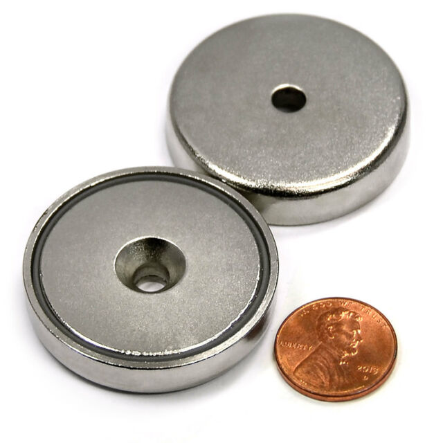 "CMS Magnetics® 112 LB H. P. Neodymium Cup Magnet 1.57"" Magnetic RB MCHN-40"