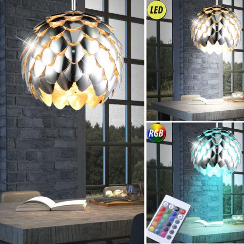 LED Decken Pendel Hänge Lampe RGB Fernbedienung dimmbar ALU Chrom Kupfer Küche