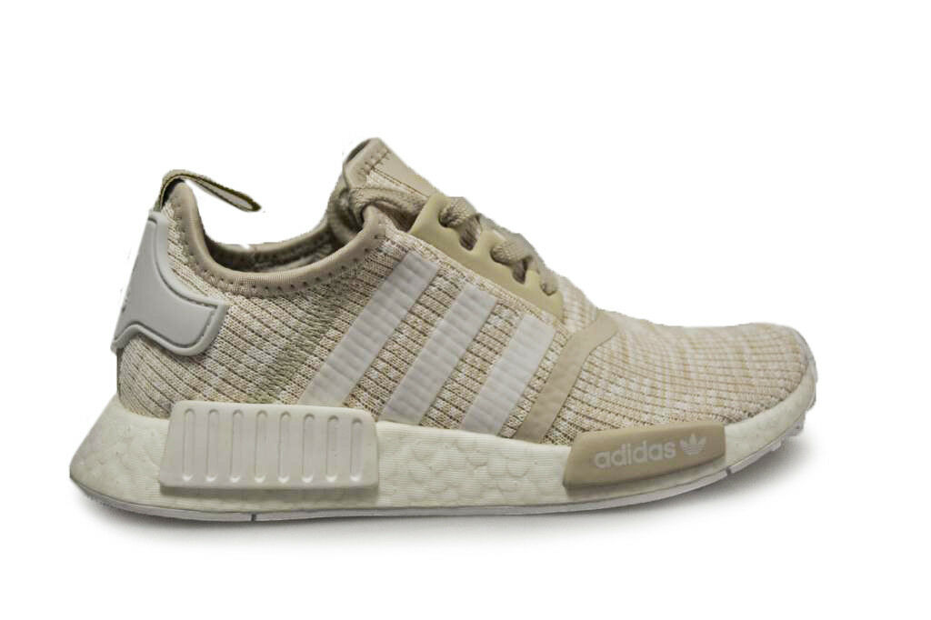 Womens Adidas NMD R1 Roller Knit -CG2999 -  White Trainers