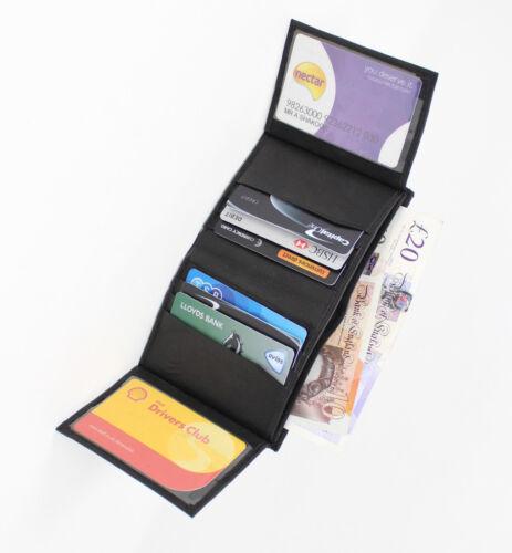 Da Uomo RFID Blocco vera Pelle Piccolo Portafoglio Borsetta Multi titolare della carta di credito 87