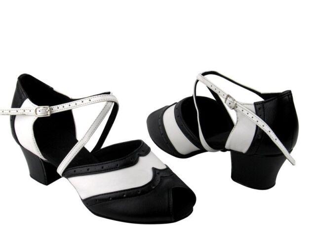 Women's West Coast Swing Salsa Ballroom Dance Shoes low Heel 1.6 Very Fine C6035