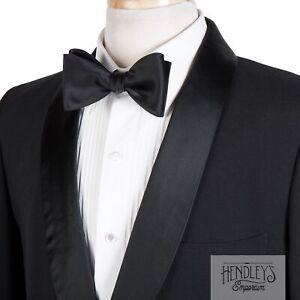 Vintage 60s BROOKS BROTHERS Tuxedo Jacket 41 S Onyx Black Wool Shawl Lapel USA