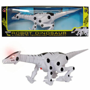 BATTERY OPERATED MINI ROBOT DINOSAUR WITH REAL SOUND, FLASHING EYES, WALKING,TOY