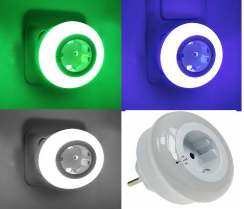 Lifcobuy LED Nachtlicht 3 Farben Orientierungs Nacht Notlicht Steckdose
