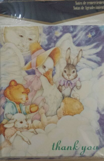 Baby Shower or Birth Thank You Cards 8 Pack Lullaby Dreams - NEW IN PKG