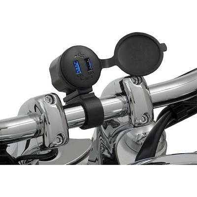 Dual Port USB Charger-Waterproof Handlebar Mount for All Victory Models 13-208