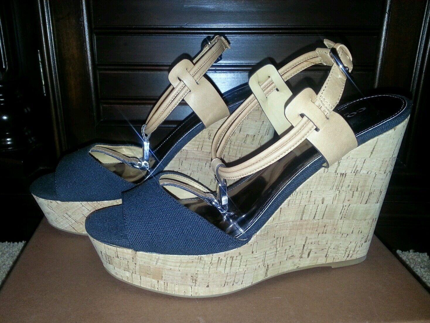 Plumín ENTRENADOR Zapatos Linden Lona Cuñas Cuñas Cuñas Sandalia Plataforma Con Cuero Negro Ginger 9.5  Hay más marcas de productos de alta calidad.