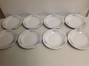 """China Pearl Fine China - Lily - Set Of 8 Bread & Butter Plates 6.25"""""""