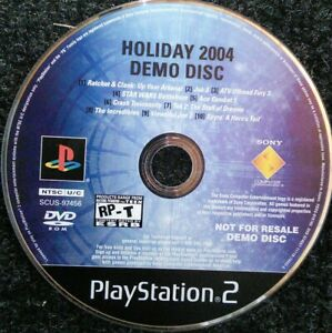 Holiday-2004-Demo-Disc-Not-for-Resale-NFR-Sony-Ps2-Playstation-2-Tested-Rare