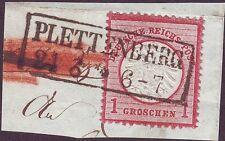 1873 DR ricco scudo del petto 19 completamente timbro Plettenberg Altena Arnsberg Vestfalia
