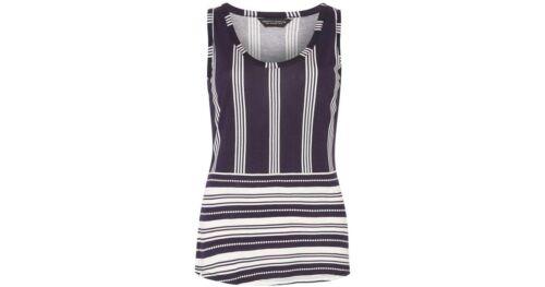 Dorothy Perkins Navy Striped Vest Top Size 8 10 12 14 16 18 20 22 C9