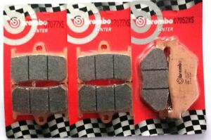 Set-3-Pairs-past-Brake-2-Front-1-Rear-Brembo-Sinter-Yamaha-Tmax-T-Max-530-2016