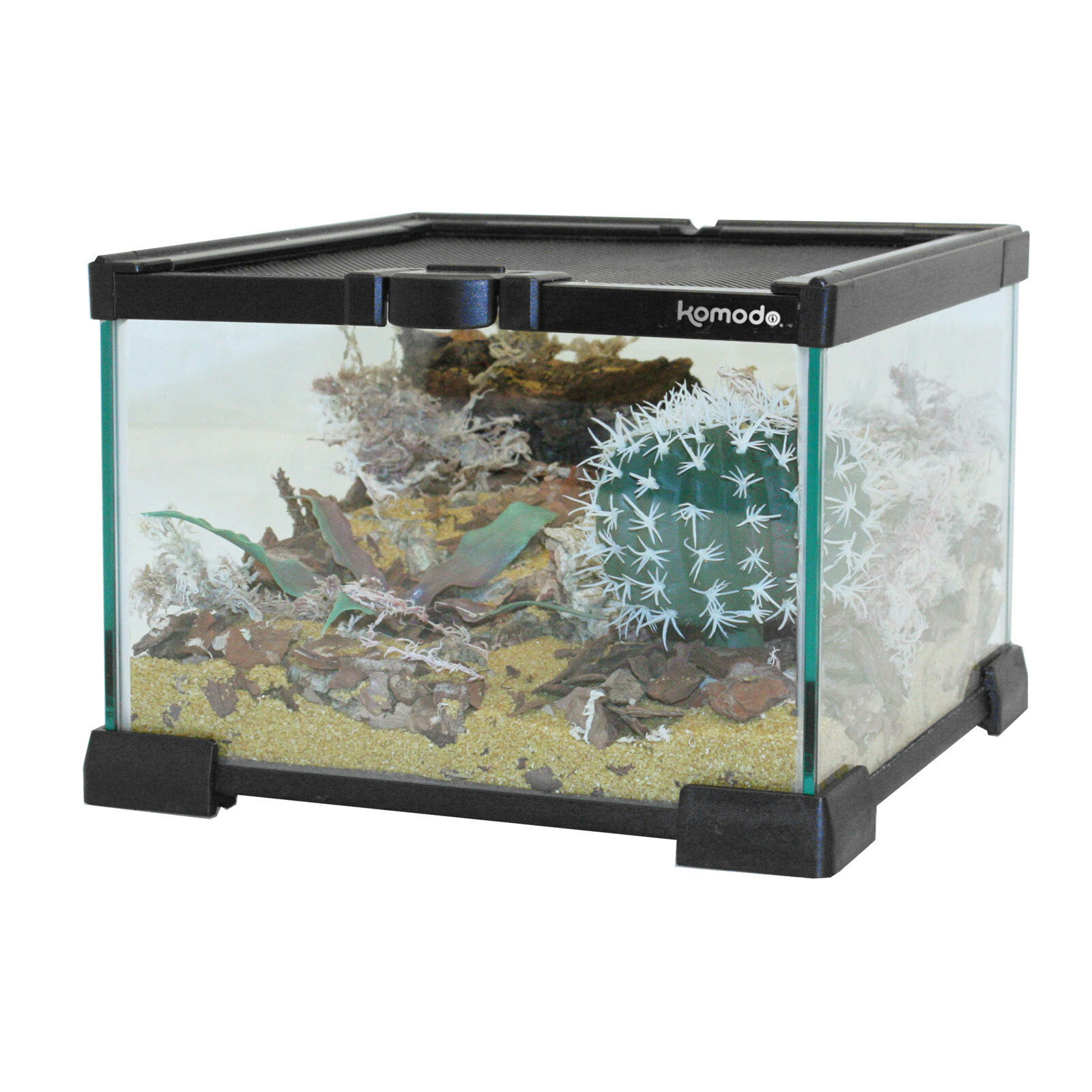Nano Habitat terrario Spider insetti Frog-vetro, impilabile - 21 x 21 x 15cm