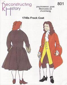 Schnittmuster-RH-801-Paper-Pattern-1740s-Frock-Coat-Gehrock