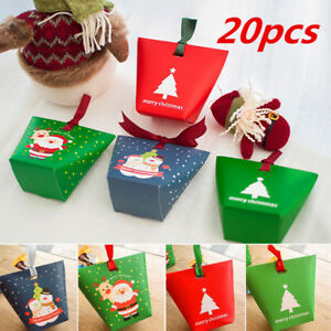 Details About 20pcs Christmas Paper Favour Sweets Carrier Bags Wedding Home Party Gift Boxes