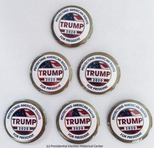 Set of 6 President Donald Trump 2020 Campaign Buttons TRUMP-702-SET