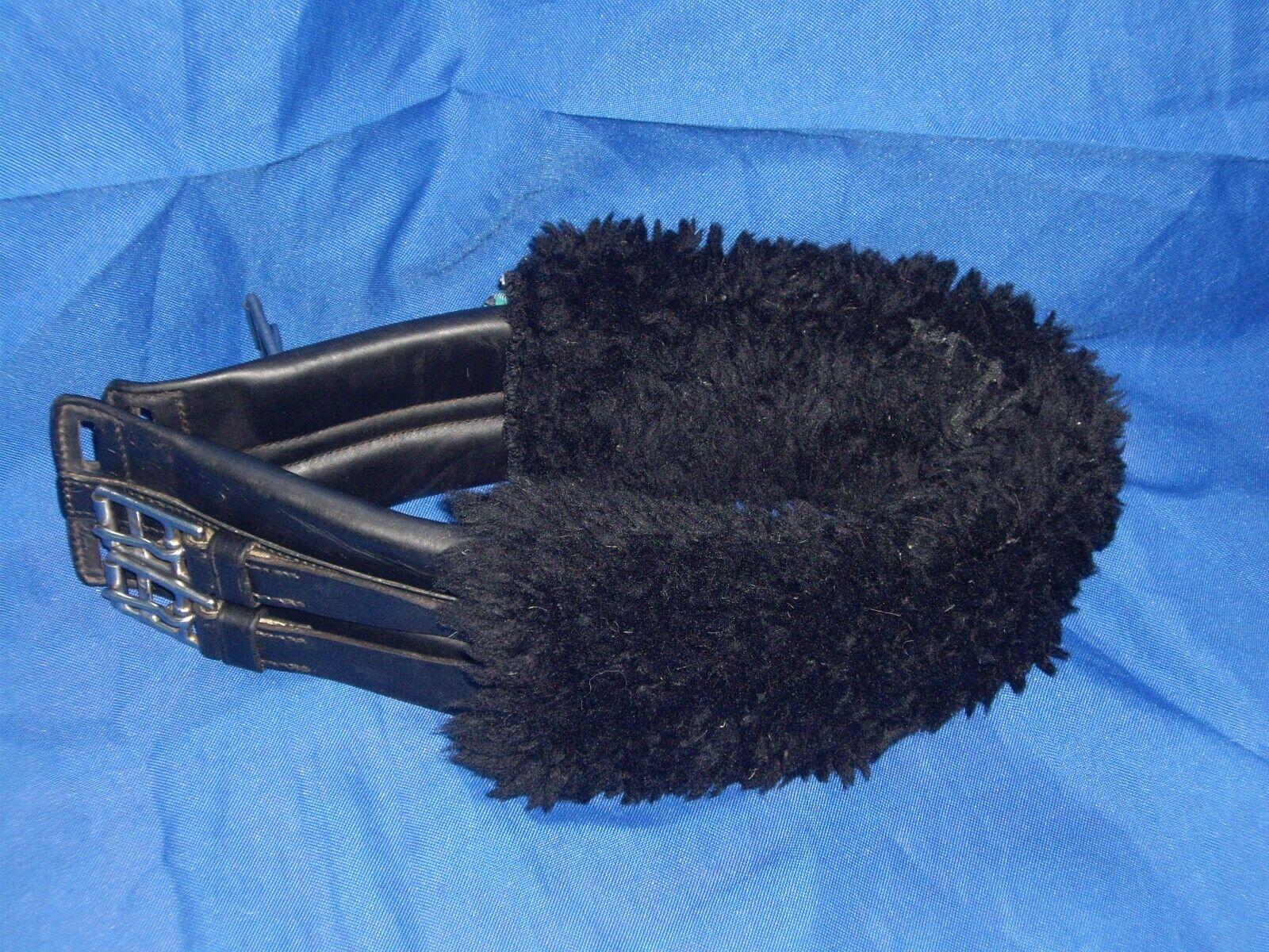 Kirkle Saddlery Sottopancia in pelle nera con uomoiche lana NuuMed – 30 MM419