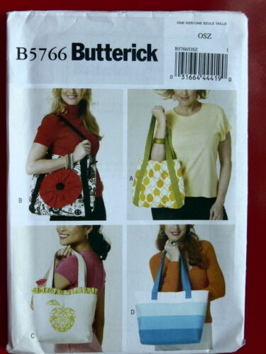 Butterick Pattern 5766 Market Totes ReUasable Shopping Bags tote bags