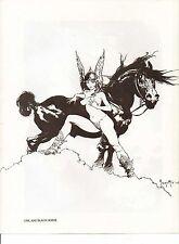 "1978 Full Color Plate ""Girl and Black Horse"" by Frank Frazetta Fantastic GGA"