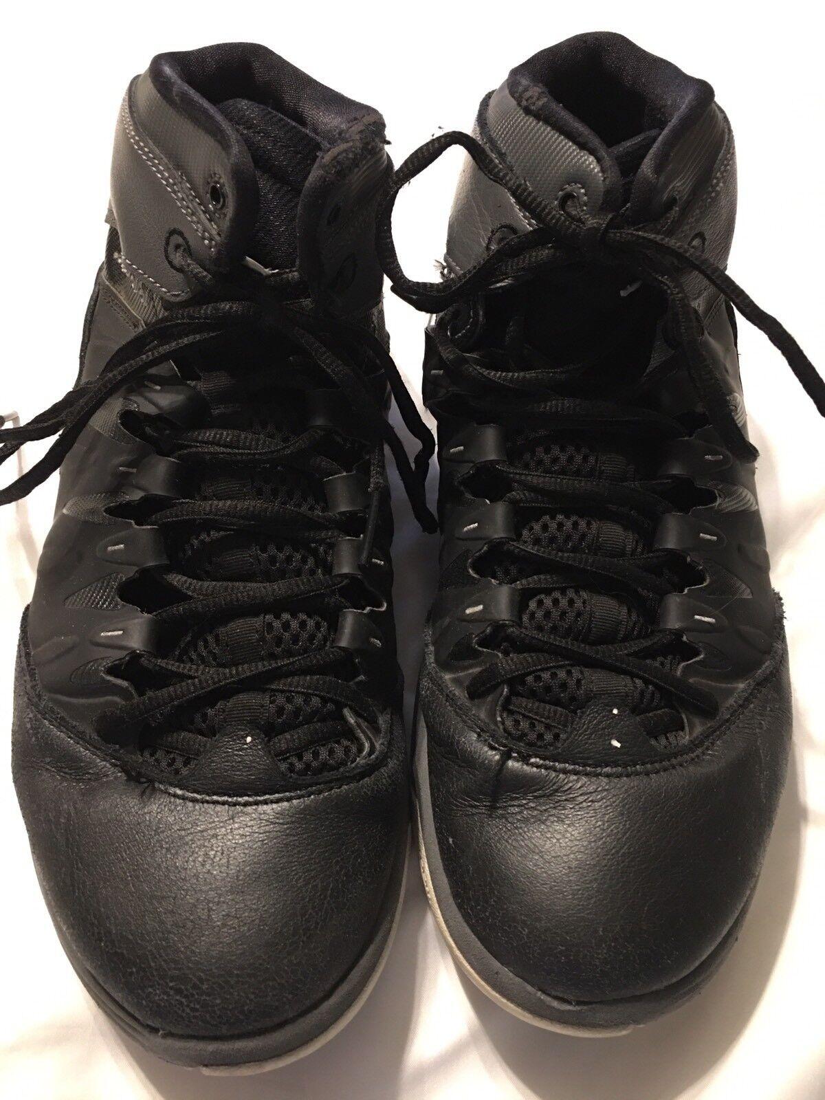 Nike Zoom Air Jordan Retro Black sz 10.5 No 10431… - image 1