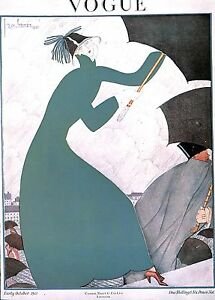 Vogue-1980-039-s-Fashion-Costume-Umbrella-Weather-Rain-Showers-Millinery
