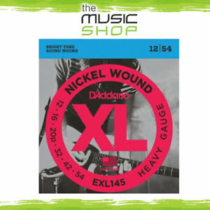 D Addario EXL145 Nickel Wound Electric Guitar Heavy 12-54 with Plain Steel 3rd