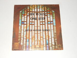 Black-Gospel-Soul-Sister-Alessie-Barney-LP-Life-Is-Just-One-Step-RARE