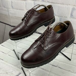H-S-Trask-Derby-Shoes-Men-s-Brown-Buffalo-Leather-Cap-Toe-Lace-Up-US-Size-11-W