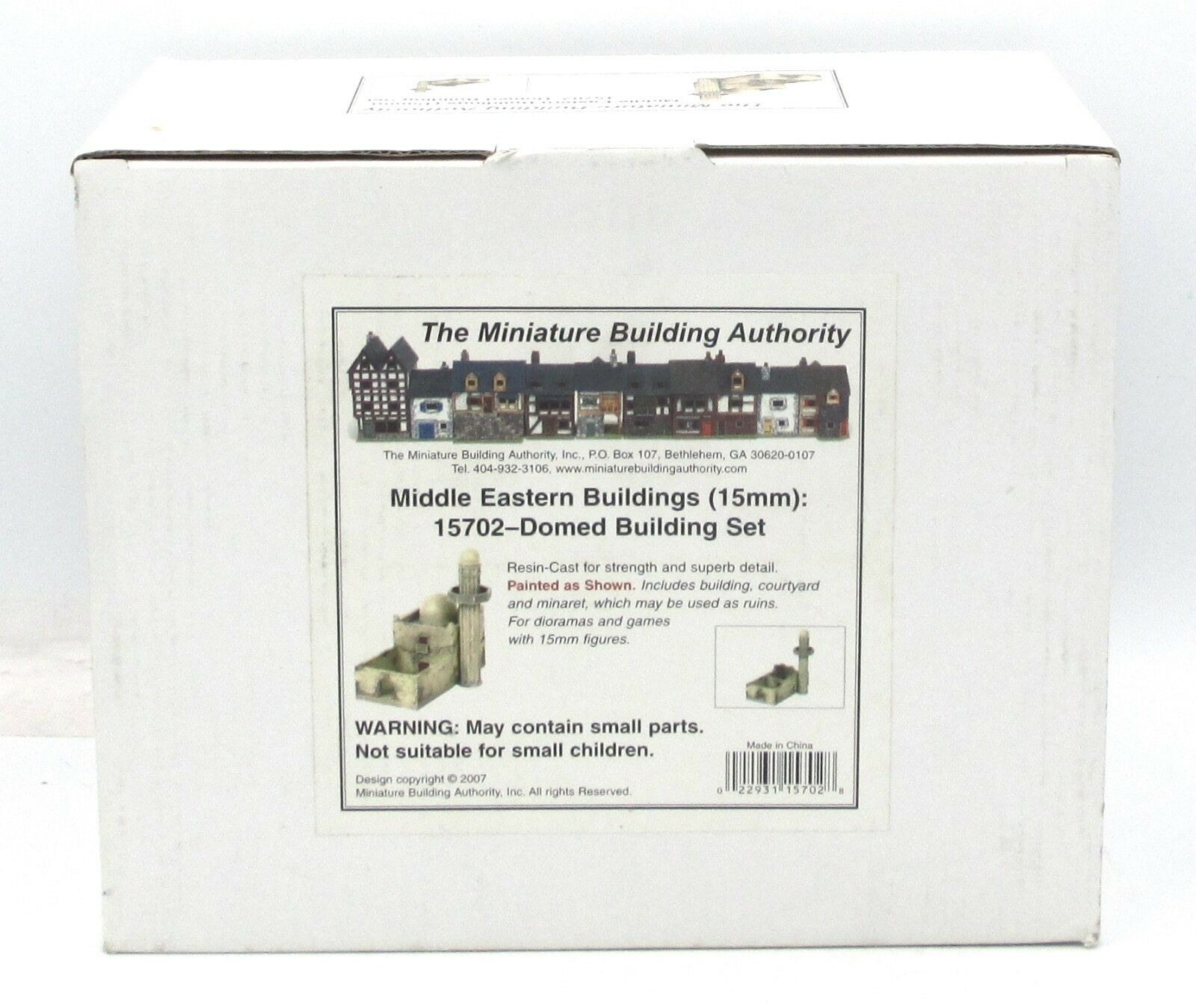 Miniature Building Authority 15702 Domed Building Set (15mm) Middle Eastern NIB