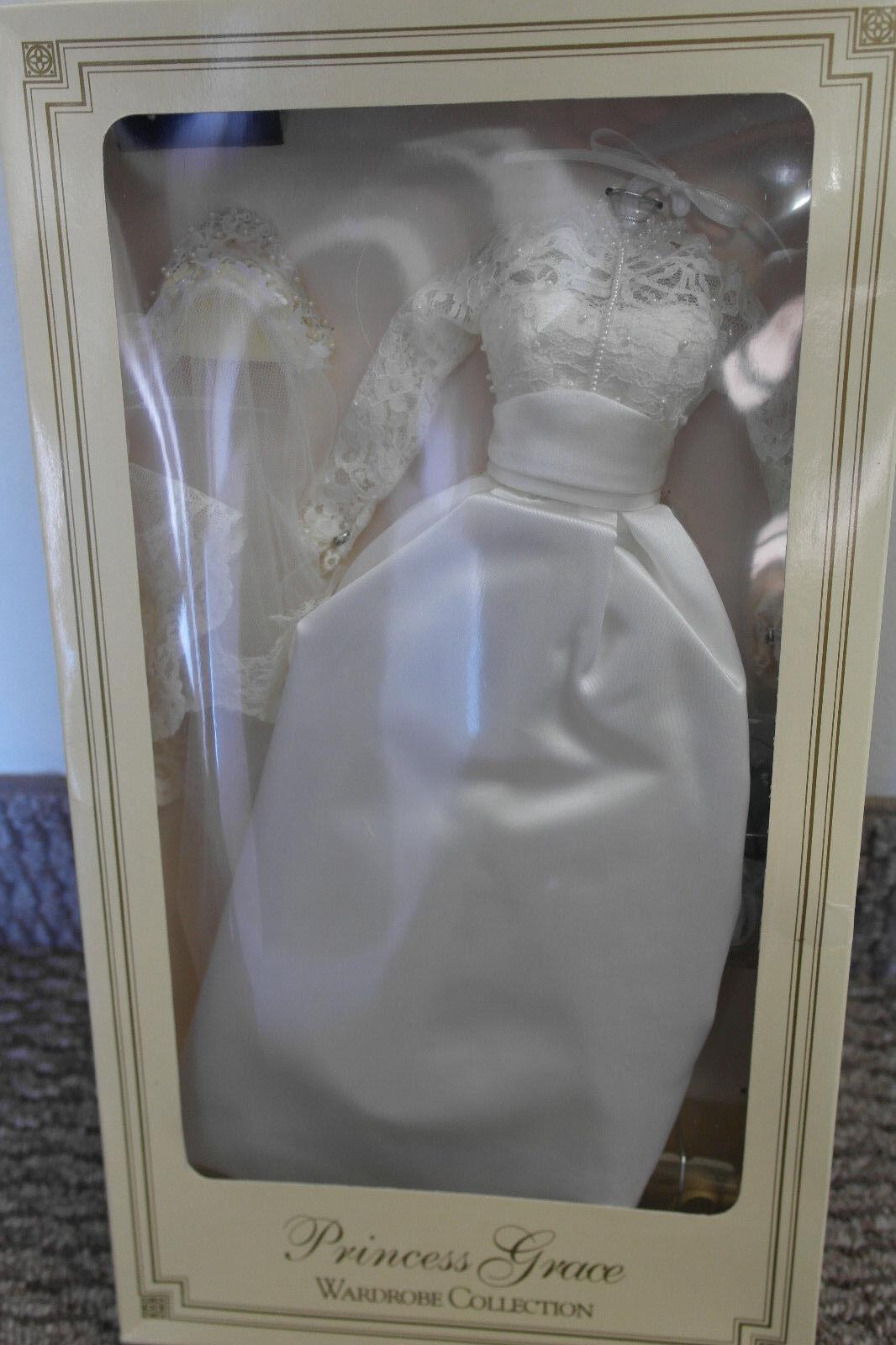 Franklin Mint Princesa Grace Vinilo Retrato de boda novia conjunto de menta en caja