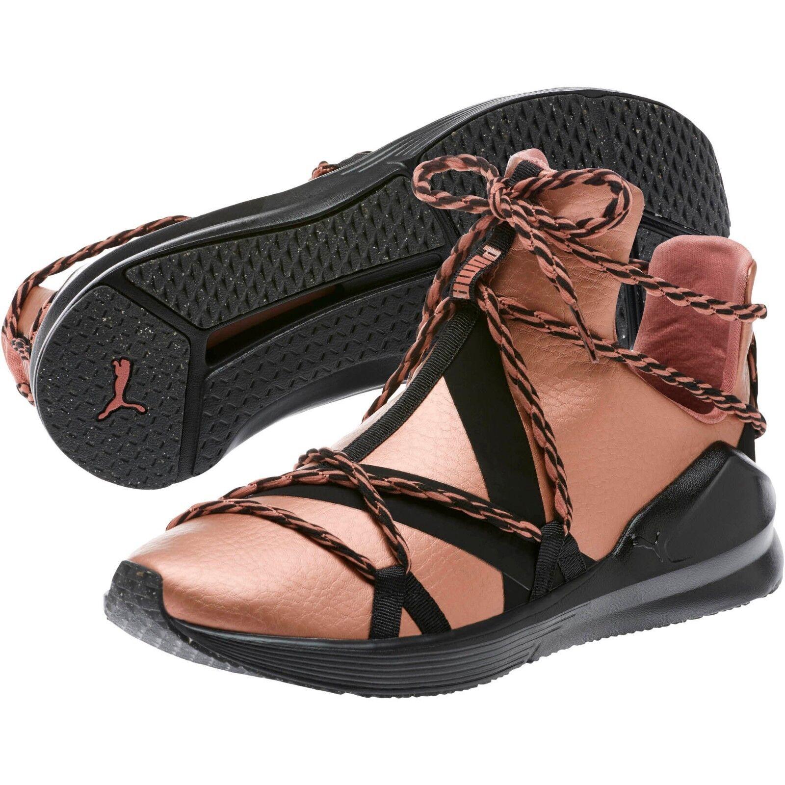 Puma Fierce 190705 Rope Bronze Femme Sneakers US 6.5 Bronze Noir Vegan new 385