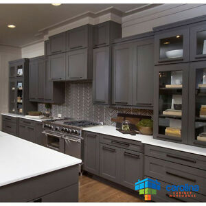 Grey kitchen cabinets wood cabinets 10 x 10 rta for Kitchen cabinets 10x10