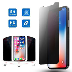 finest selection fe569 6b63e Details about For Apple iPhone Xs Max XR X 9H Privacy Anti-Spy Tempered  Glass Screen Protector