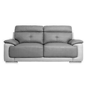 Awe Inspiring Astra Two Tone Light And Dark Grey Leather Sofa 3 2 Home Interior And Landscaping Pimpapssignezvosmurscom