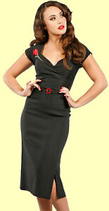Stop-Staring-Black-Curve-Hugging-Milan-Wiggle-Dress-New-With-Several-Sizes