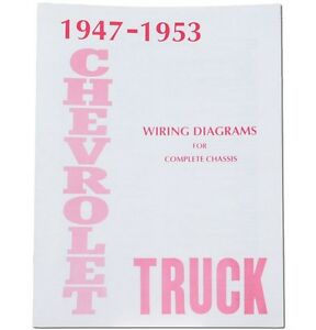 1947 1948 1949 1950 1951 1952 1953 chevy truck wiring diagram ebay. Black Bedroom Furniture Sets. Home Design Ideas