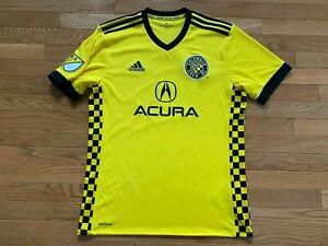 Adidas Columbus Crew SC Authentic Home Soccer Jersey Sz M ...