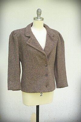 ELLEN TRACY Size 8 (Short) Vintage 1980s USA Union Label Blazer