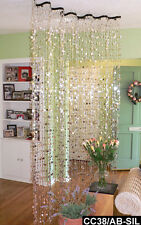 Room Divider Doorway Beaded Curtains Silver Champagne Bubbles