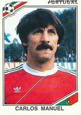 N°394 CARLOS MANUEL # PORTUGAL WORLD CUP MEXICO 1986 STICKER PANINI VINHETA