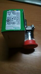 Schneider Electric XB4 BS8442 Emergency Stop Push Button+Contact Block ZBE-102