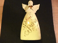 Hallmark Gift Bag believe All Is Possible Angel Porcelain Figurine Bell